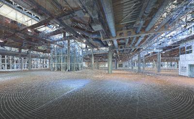 X130 3D Laser Scan der Gartenhalle Karlsruhe